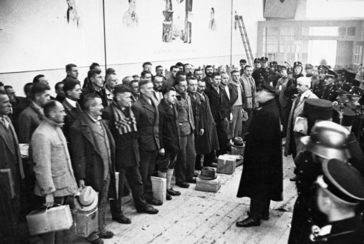 Photo from the opening day of Dachau Concentration Camp on March 22, l933.