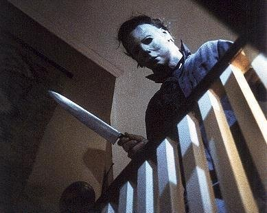 Mike Myers from the movie Halloween is a good choice for masked killer, virtually unstoppable and he's slow but persistet, a great workout buddy!