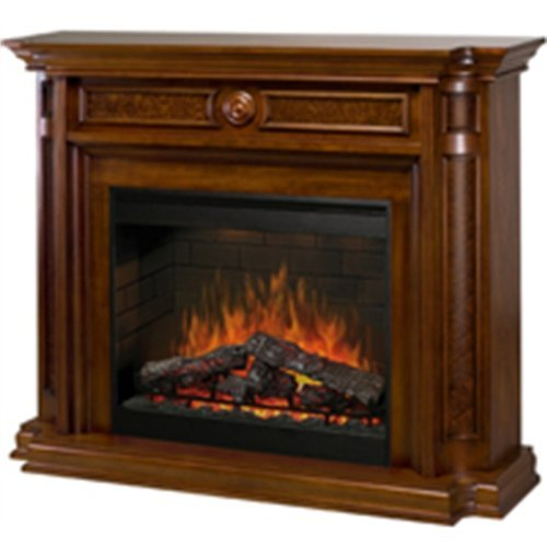 Dimplex Hartford Aged Cherry Electric Fireplace Mantel Package Aged Cherry Electric Fireplace | image credit: amazon