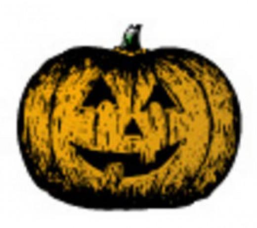 Decorate your cake like a Jack-o-Lantern!
