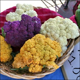 Cauliflower comes in so many beautiful colors!