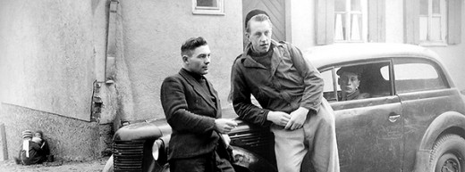 Here he is in 1947 (on the left) in a Displaced Persons camp near Stuttgart, Germany