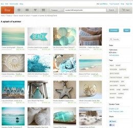 A closer look at someone's treasury that I liked under the search term 'beach'