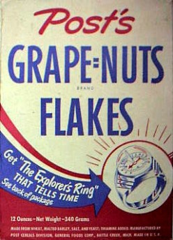 Post Grape Nut Flakes.