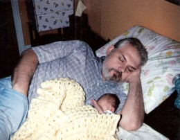 Dave Pedneau and daughter, Holly (1985).