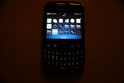 Setup icon on Blackberry OS 5.x/6.x