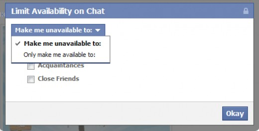 Facebook Chat - Decide Your Availability