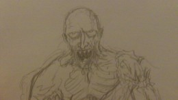 How to draw a Zombie Art by Wayne Tully 2011.