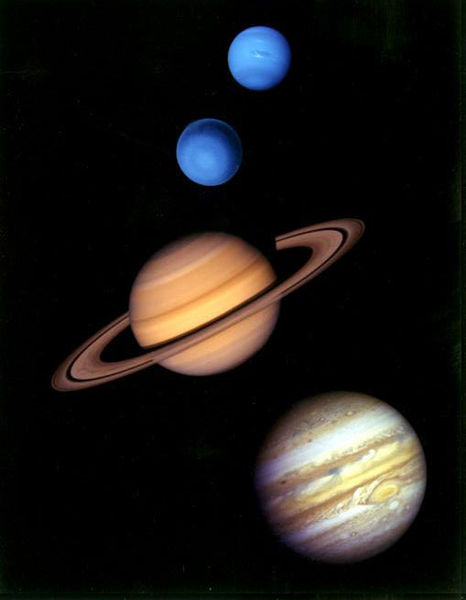 The Gas Giants, Outer Planets of Solar System