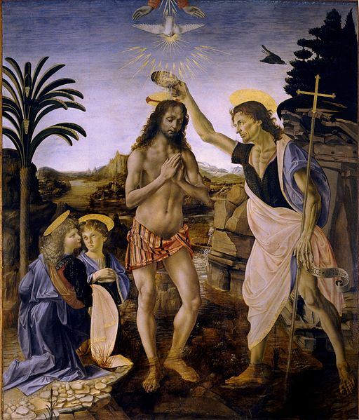 Davinci Baptism of Christ