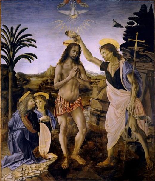 Davinci Baptism of Christ