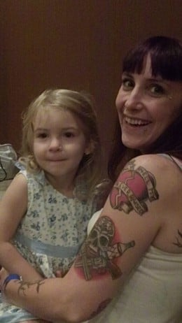 No matter how we may look different as tattooed people, our children look the same.