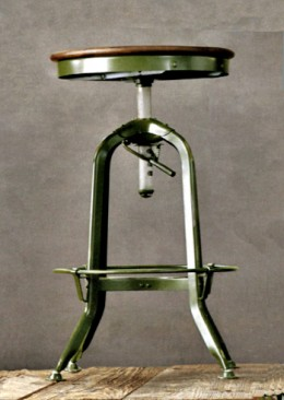 Reproduction of a Toledo Steel stool.  Sold by Restoration Hardware, retail $345.