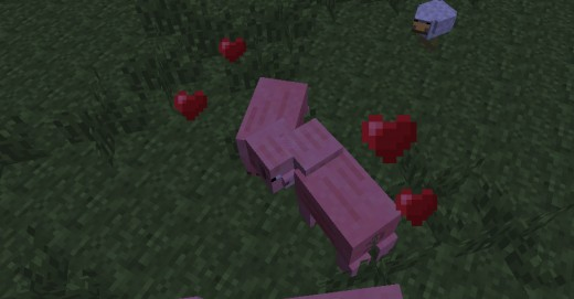 Minecraft pigs in a tender embrace.