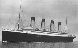 This isn't the Titanic either, but her year older sister, the RMS Olympic, which sailed from 1911 until 1936.