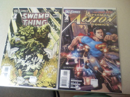 The covers for these were both good art but the Action Comics had a better angle and did take place in the book so I prefer it. ST's was just there and pretty.