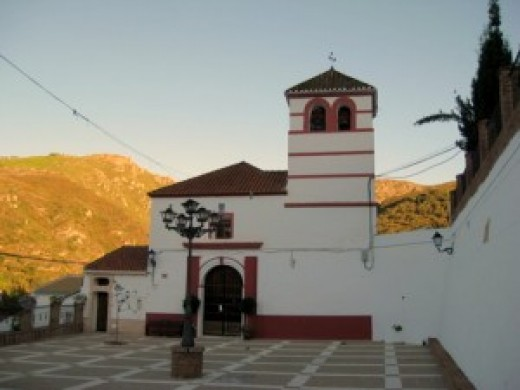 The church in Juzcar before it was painted blue
