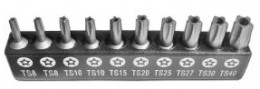 You need this 5 Point Star Tamper Proof Bit Set, if that's the kind of thing that's important to you.