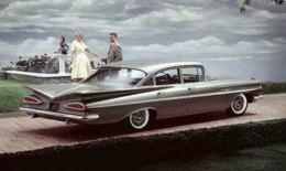 1959 Chevrolet, weren't they neat cars?