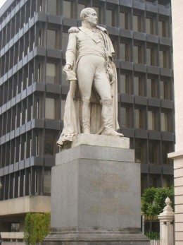 Statue of Augustin Daniel Belliard by Guillaume Geefs, Brussels, Belgium. Created 1836.