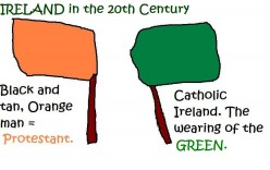 There was fighting between Orange and Green in 20th Century Ireland.