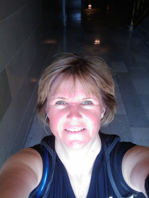 I just finished my long run/walk 2 weeks before my first half marathon.  I was feeling pretty good.