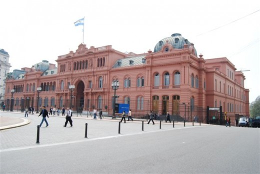 The famous Casa Rosada or Pink Palace- this is the Presidential Palace.