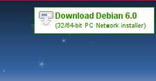 Cut out of the top right corner of the Debian website's banner image.