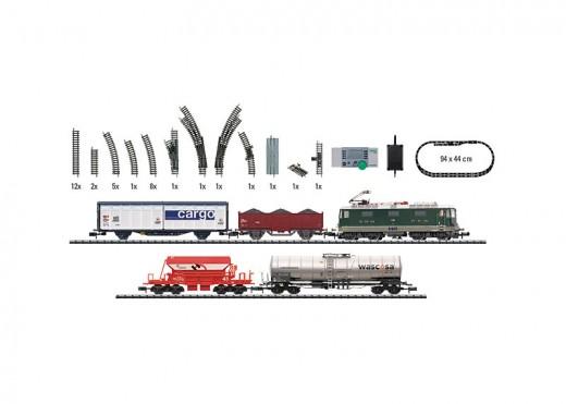 Trix N Scale Swiss Freight Train Starter Set