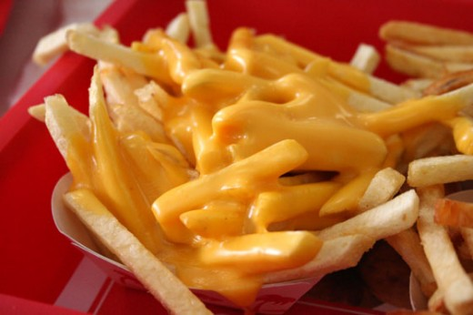 """Cheese Fries"" that can be ordered from the ""Secret - not so secret"" menu at In-N-Out Burger."