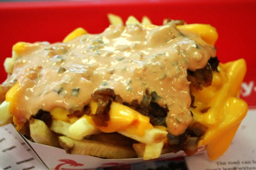 """French fries ordered """"animal style."""""""
