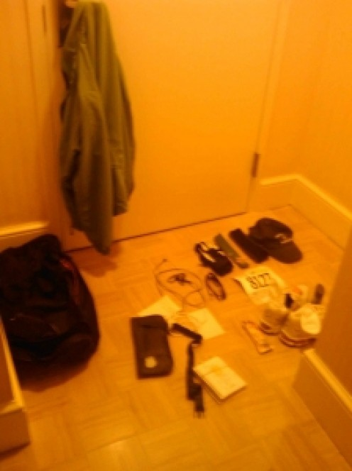 Here is everything I laid out the night before my second half marathon.