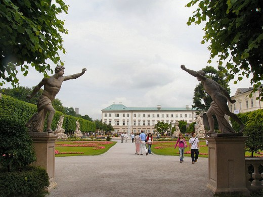 "Palace of Mirabell, where the ""Do, Re, Mi"" scene from the film, ""Sound of Music,"" was filmed in Salzburg, Austrial."