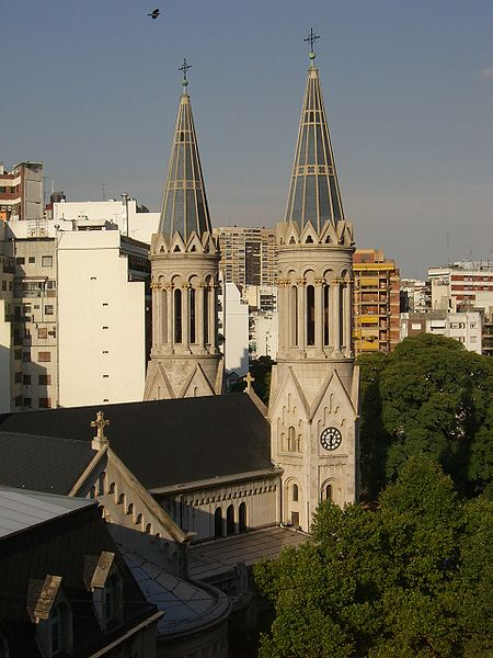 Church of the Virgin of Guadalupe, Guemes Plaza. Palermo District, Buenos Aires.
