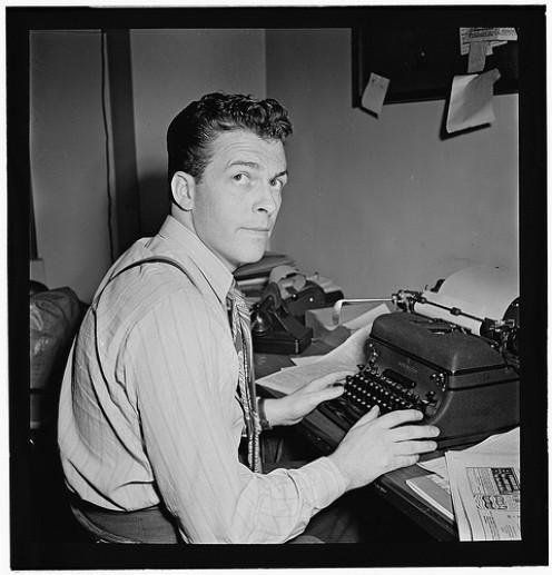 Portrait of Eddie Ronan, Down Beat office, New York, N.Y., ca. March 1947 by William P. Gottlieb