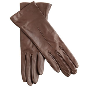 Sophisticated leather gloves.