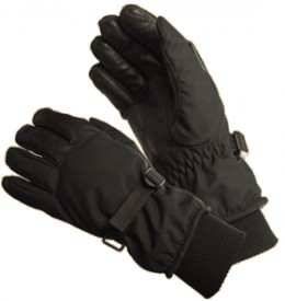 Serviceable waterproof gloves.