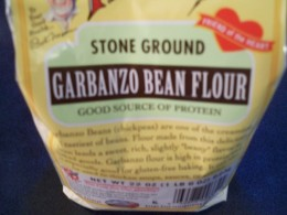 High protein garbanzo flour gives a grainy texture but the muffins are light.