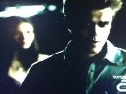 Stefan walks away from Elena after proclaiming that he never wants to see her again.
