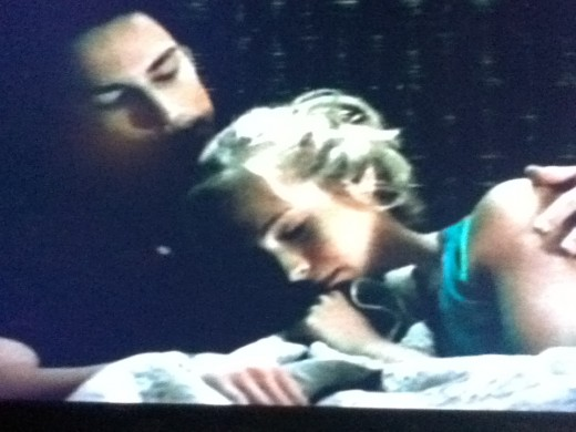Tyler comforts Caroline after coming to her rescue.