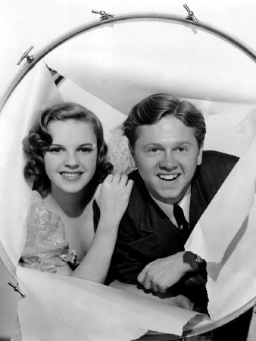 With Judy Garland in 'Strike Up the Band', 1940