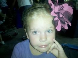 My daughter posing fancy