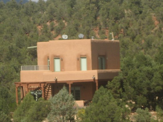 Another house on the hillside somewhere in New Mexico