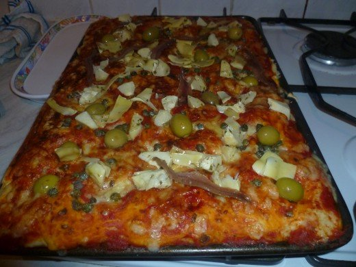 The pizza is ready!