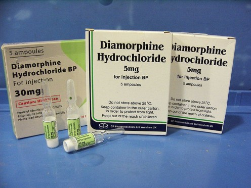 """Medicine heroin"" - diacetyl-morphine/diamorphine of 30mg recently used by Switzerland,Netherlands,Denmark,Germany,Norway for maintenance treatment of addicts."