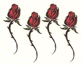 Tribal rose tattoos by Funtoos.com