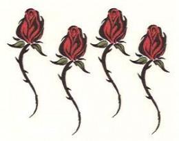 Tribal rose tattoos by Funtoos.com