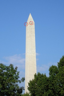 Wahington Monument 30 Sep 2011 -- showing two engineer rappellers   image credit: John Dove