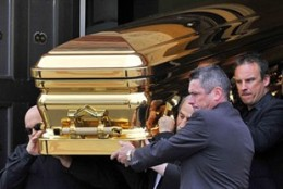 Carl Williams was buried in a gold plated coffin