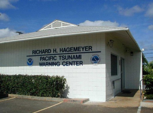 The Pacific Tsunami Warning Center is based in Hawaii and monitors movement in the Pacific Ocean